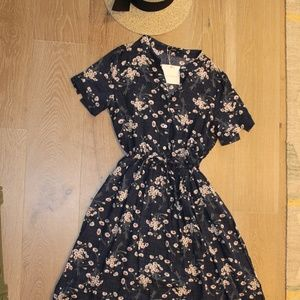 Cute Summer Dress in Navy